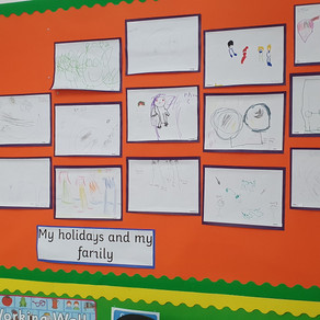 A few displays from the classrooms