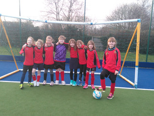 Feeling Proud - Y3/4 Girls at Football Tournament.