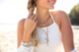 Divine Creatures Jewellery silver crystal white shell bead bracelets beach chic sand sun surf fashion gold coast
