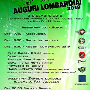 """""""AUGURI LOMBARDIA 2019"""" - 31° PIANO DEL GRATTACIELO PIRELLI DI MILANO"""