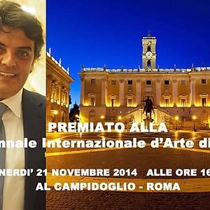PREMIATO ALLA X° BIENNALE INTERNAZIONALE D'ARTE DI ROMA 2014