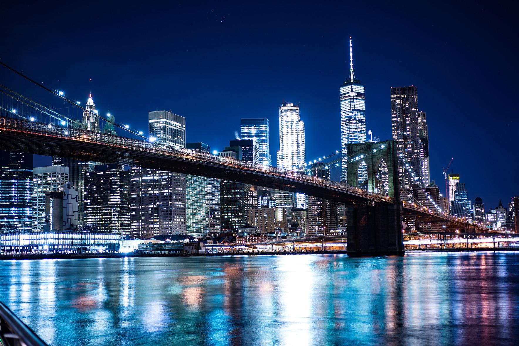 New York Skyline from The Brooklyn Heigh