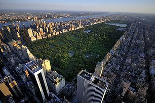 Central Park aerial view Manhattan New Y