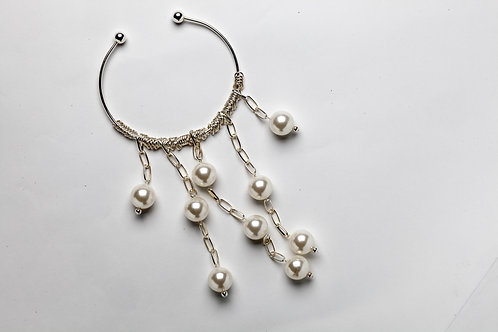 Pearl Chain Silver Necklace