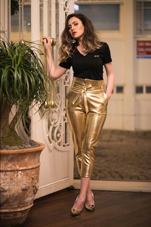 Gold Capri Trousers