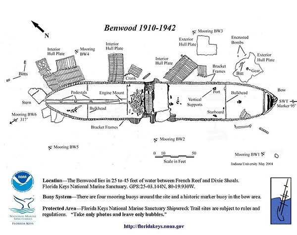 Site map for th Benwood