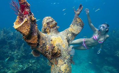 Snorkeling in Key Largo at the Christ of the Abyss Statue