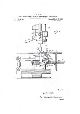 looper threading mechanism, 1917