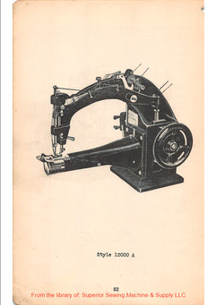 12000A double locked stitch machine, 1929