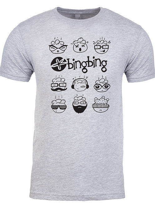 Bing Bing Uni-sex T-Shirt Gray