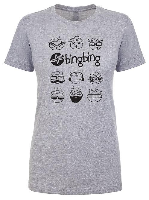 Bing Bing Womens T-Shirt Gray