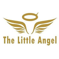 The Little Angel logo: a pair of angel wings under a halo. The halo has a horn coming out of it on the right side.