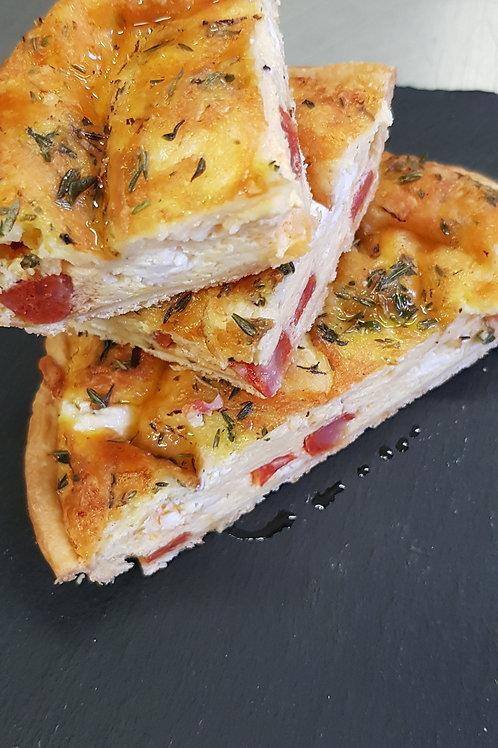 Chorizo, Feta & Manchego Cheese Quiche