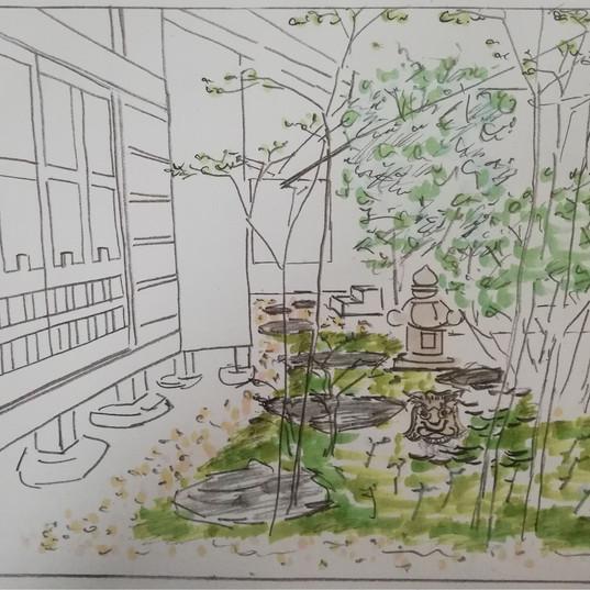 お寺の中庭イメージを提案
