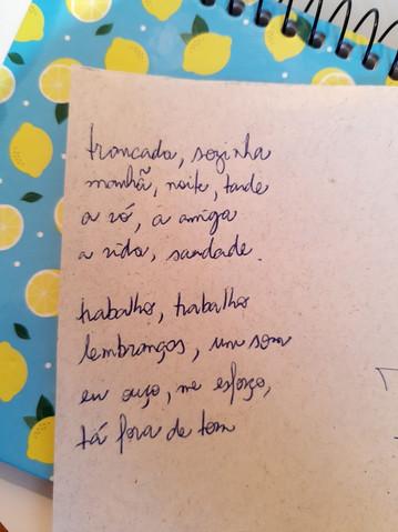 Poema - Beatriz Torrano (professora voluntária no Instituto Embarque)