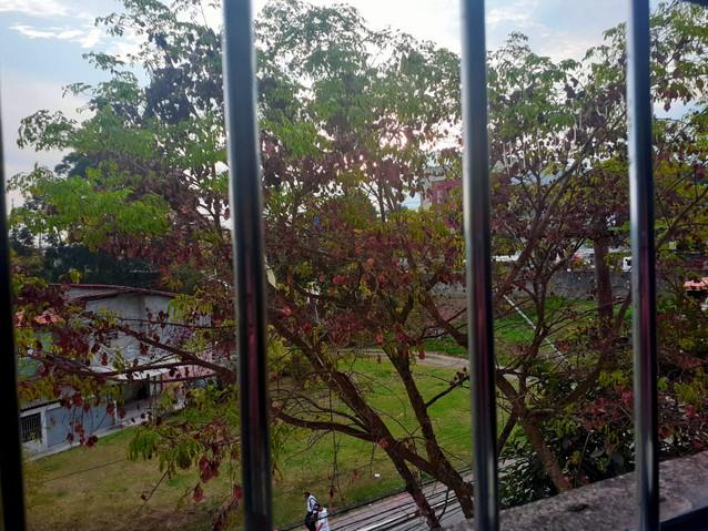 As grades aprisionam e refletem A sensação é de prisão  A sensação é de esperança Olhar pelas grades da janela me salvou  Eu vejo pessoas, cores e pássaros Quando sairemos? Quando viveremos? Aliás, nós sairemos?  (Debora Santos da Conceição - aluna do Projeto Sala de Embarque)