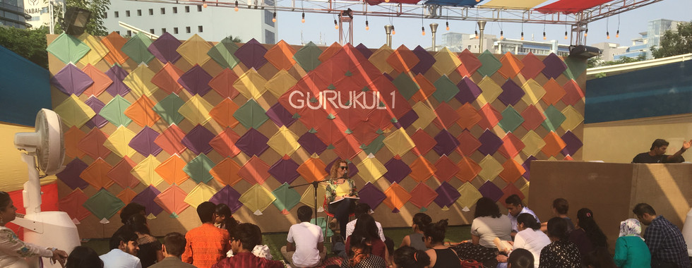 Margot on stage at Spoken Fest, Mumbai