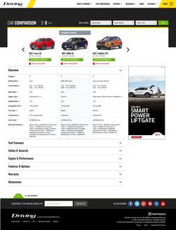 Driving.ca Car Vehicle Comparison Tool Detail View