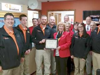 Charles City Chamber welcomes Unggoy Broadband