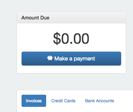 """""""Bank Accounts"""" have been added to allow eCheck payments"""