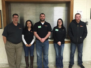 Local Business Volunteers for Local High School