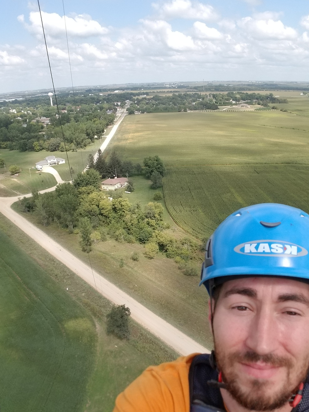 Brad Cline working on tower upgrades!