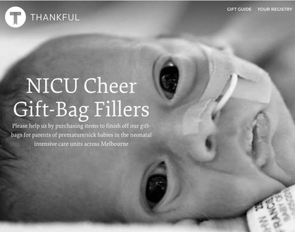 NICU Cheer Registry