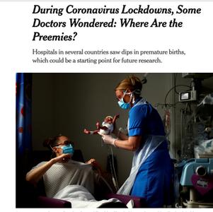 New York Times Article - Covid-19 + Prematurity