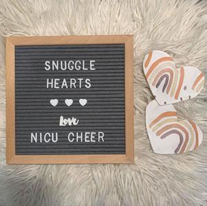 NICU Cheer Snuggle Hearts