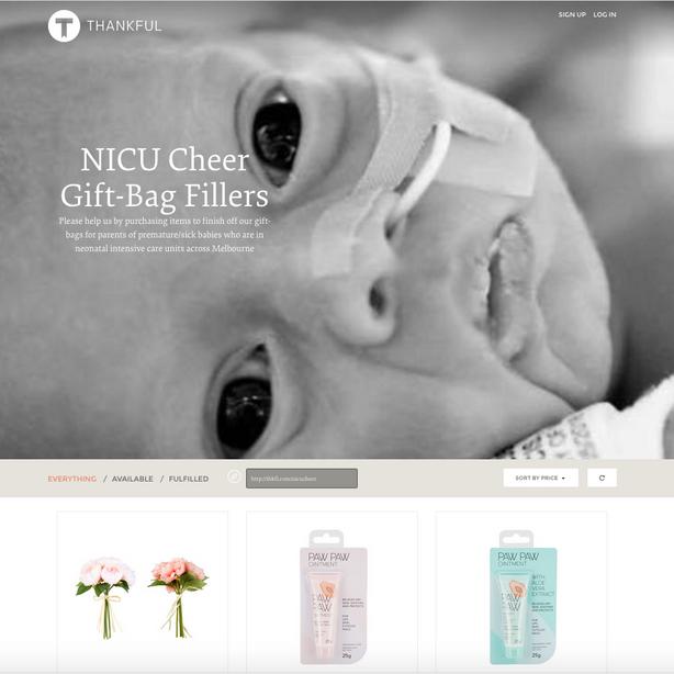 NICU Cheer Registry