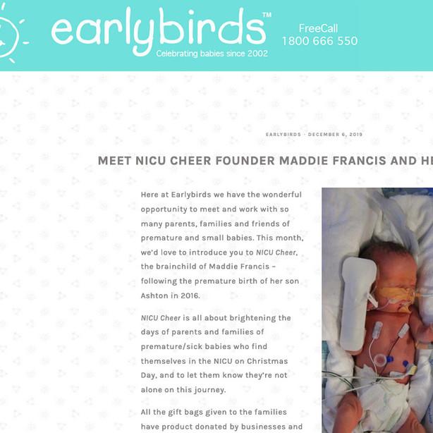 Earlybirds - Sponsor Blog