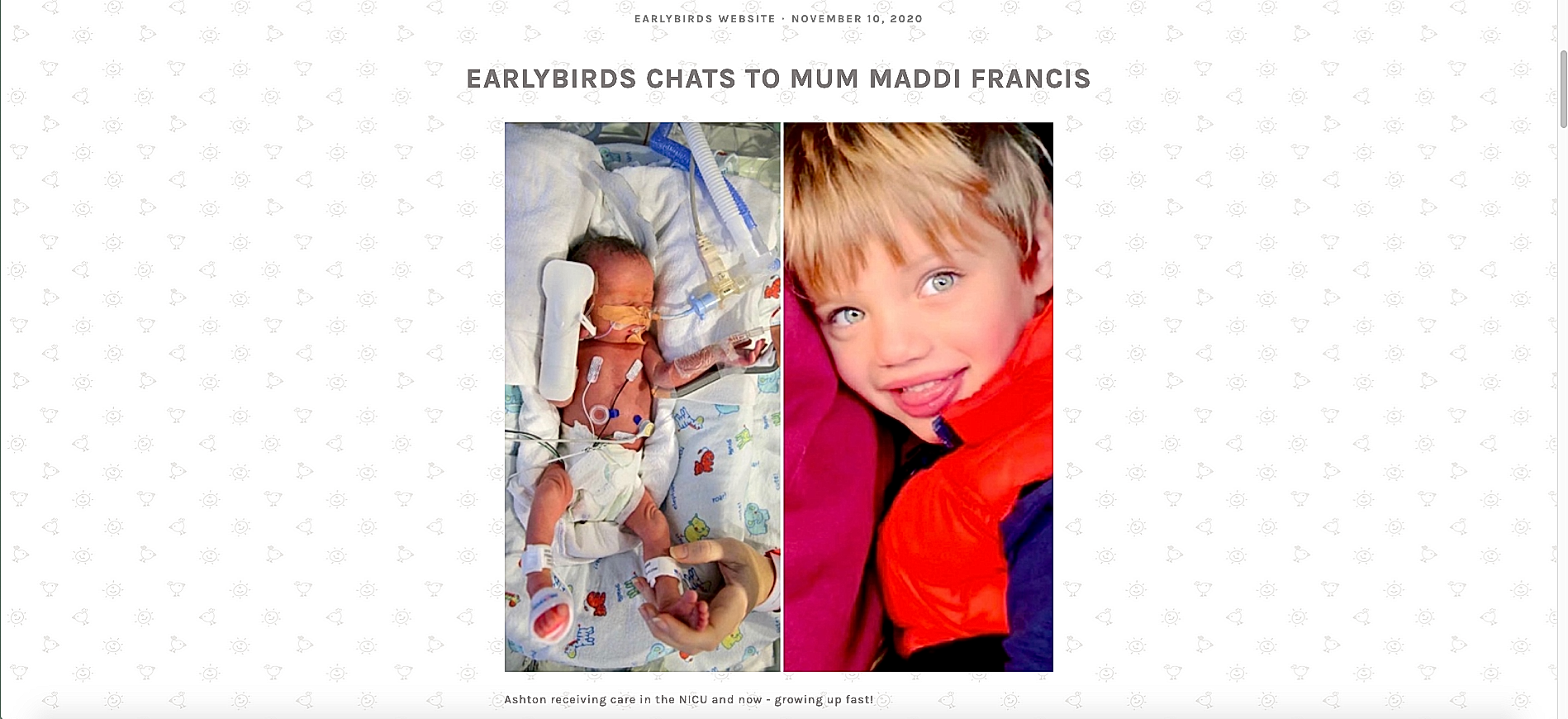 Earlybirds Interview with NICU Cheer Founder Maddie