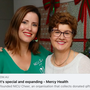 Mercy Article on NICU Cheer