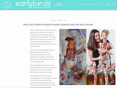 Earlybirds Blog