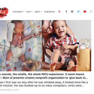 Love What Matters Article on NICU Cheer