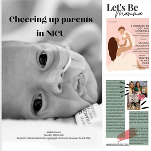 Let's Be Mamma Article on NICU Cheer