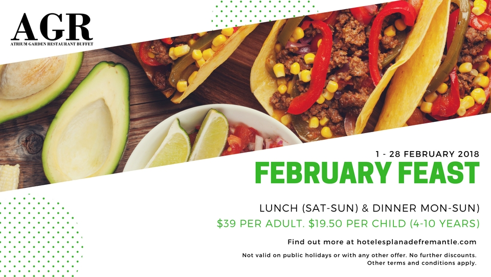 AGR February Buffet Dining Special