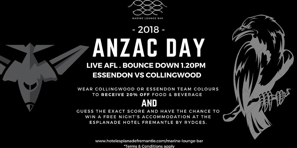 Anzac Day AFL Blockbuster LIVE