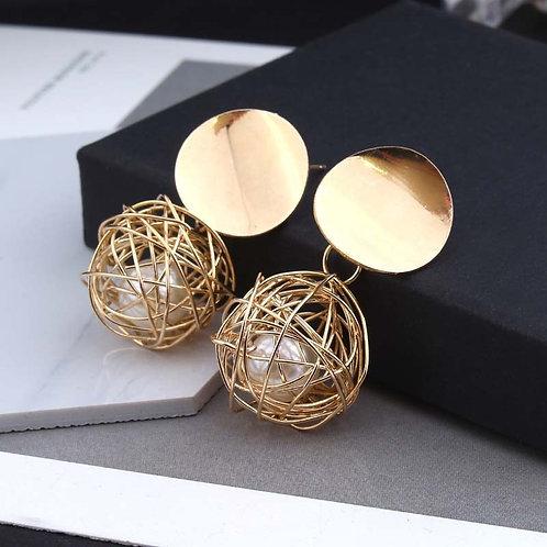 Ball Geometric Earrings