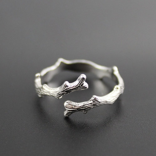 Antique Branches Metal Open Rings