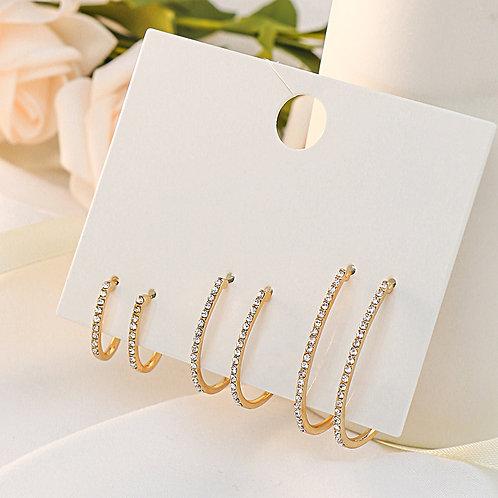 Luxury Fashion Crystal Zircon Diamond Gold