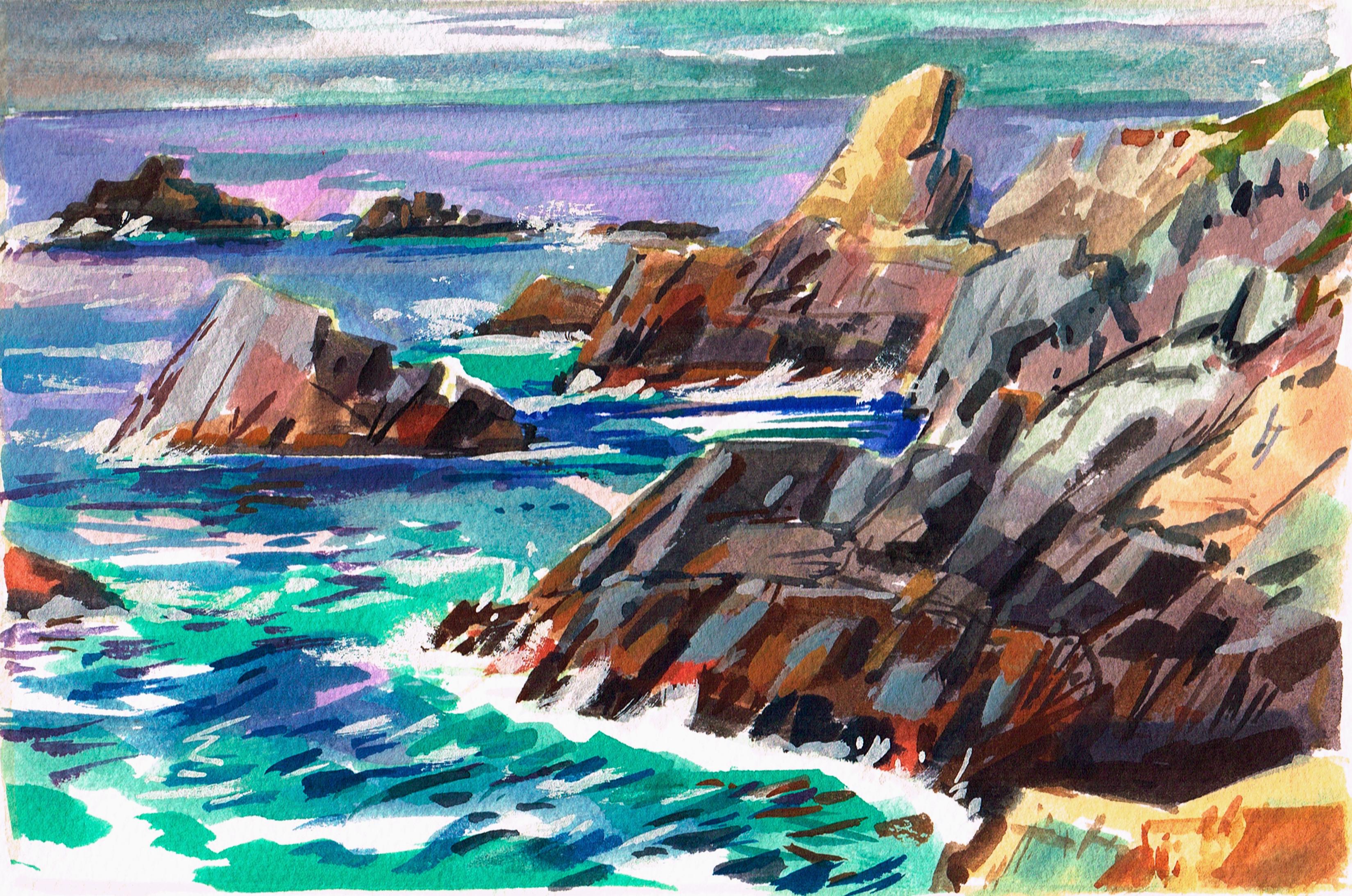 Big Sur Jagged Rocks