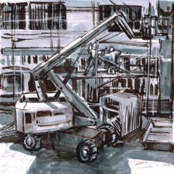Gripper Scaffold & workmen