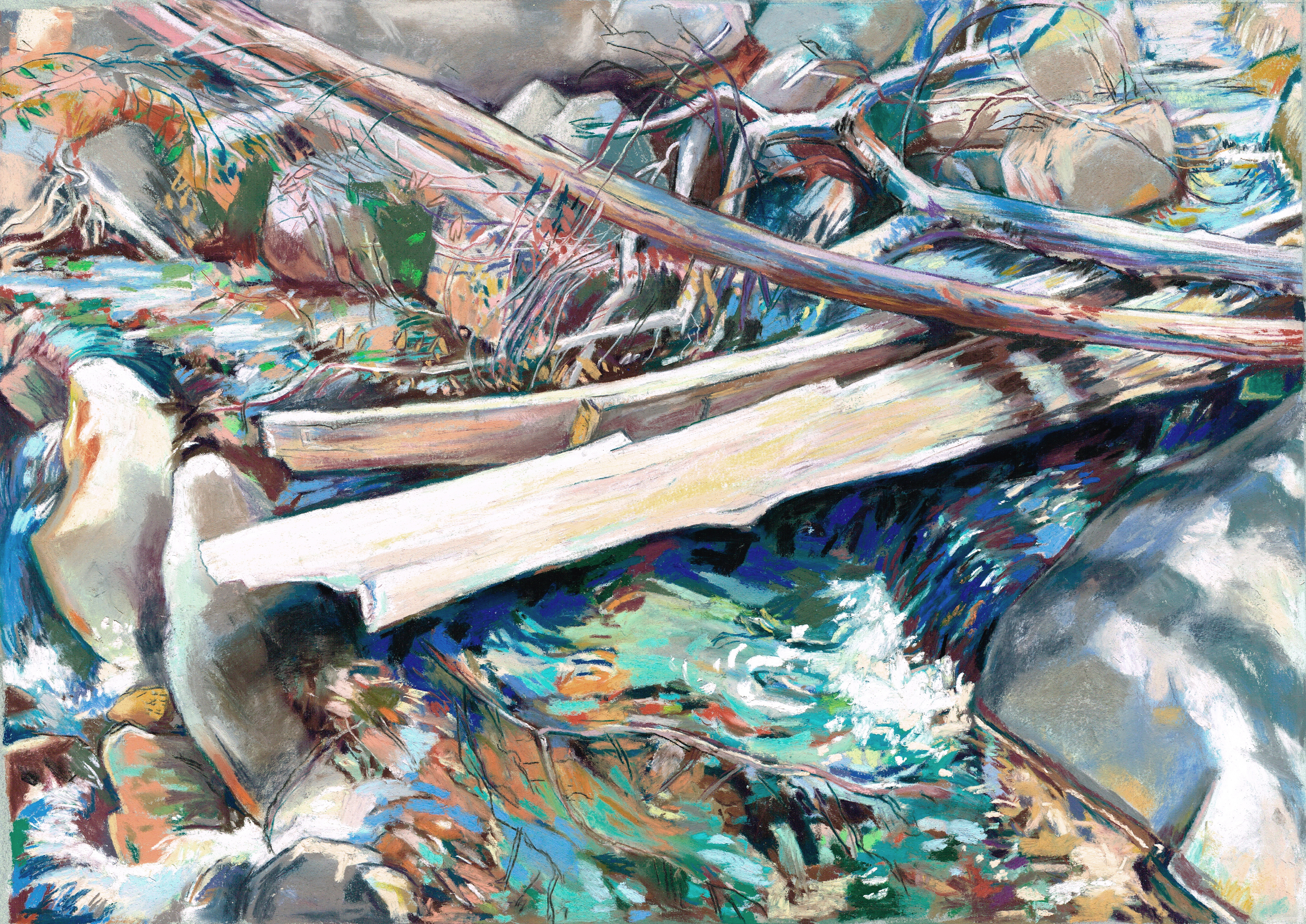 Baldy Broken Log Cascade