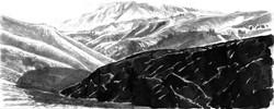 Chino Hills black hill & shadow