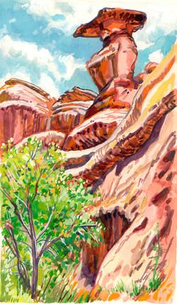 Utah Road Canyon Top Hat Spire
