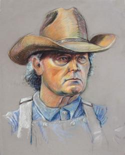 Cowboy & Hat Color Protrait