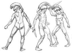 AC Roman 10 3 figures anatomy
