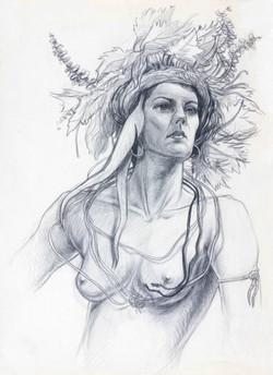 Model Portrait Natures Headdress