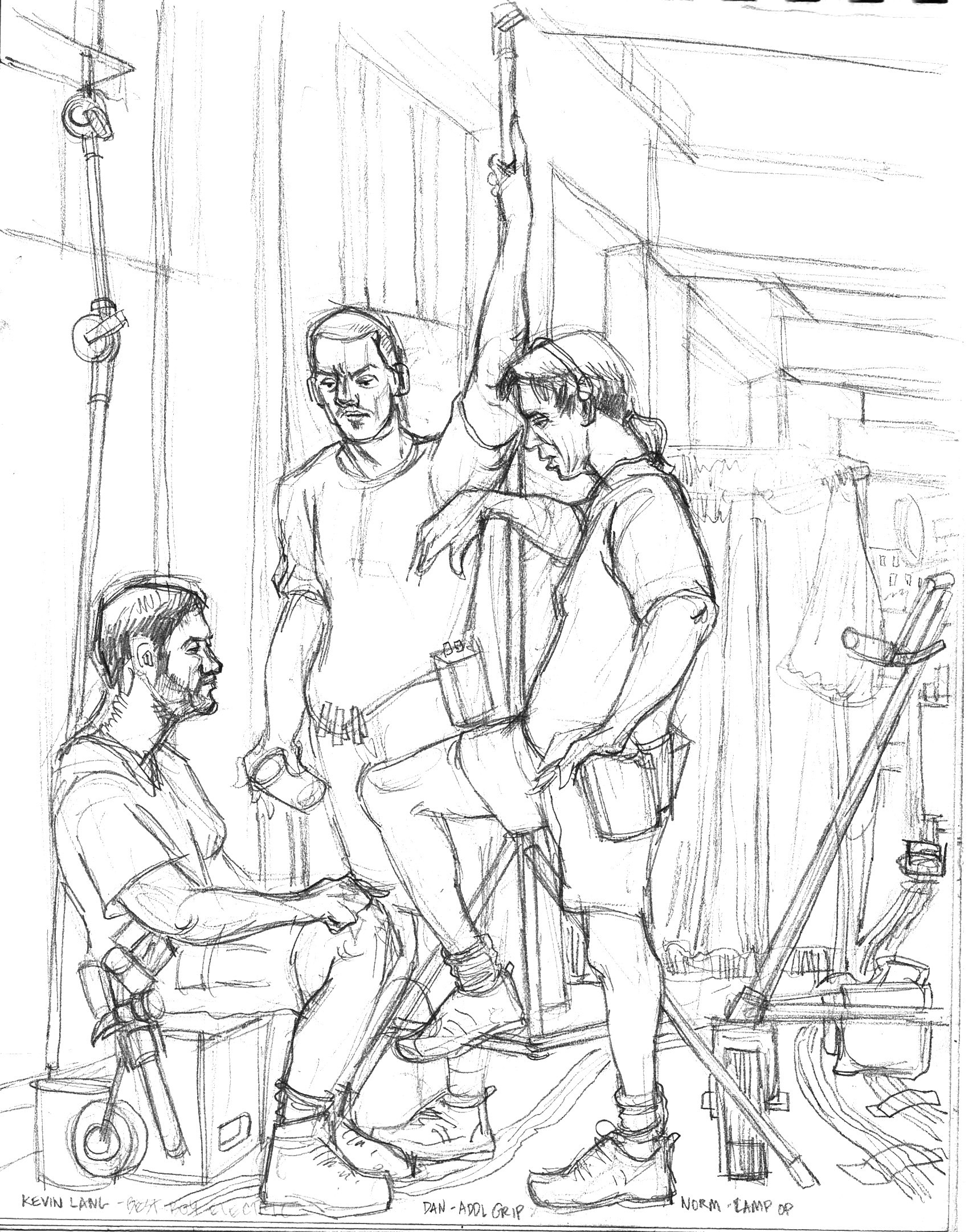 Three Crew in Hallway